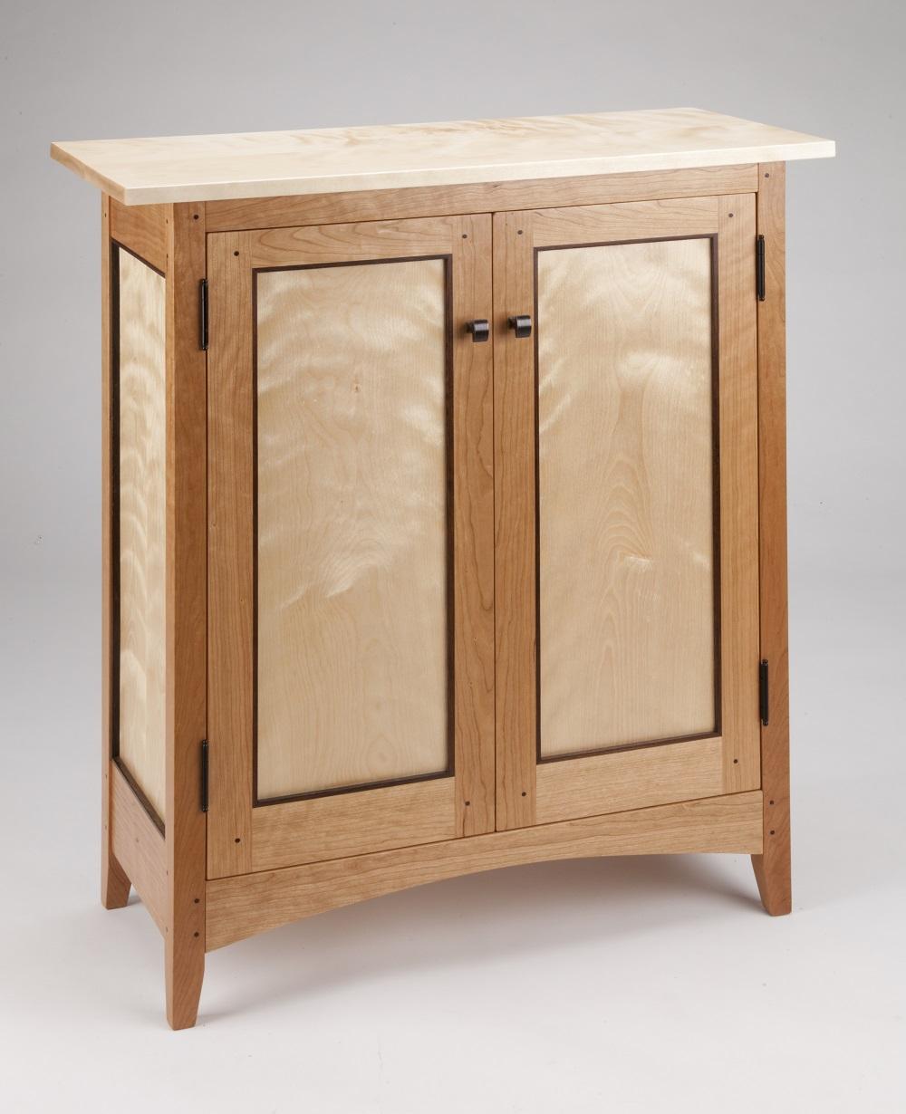 Tom dumke handcrafted furniture side cabinet made of